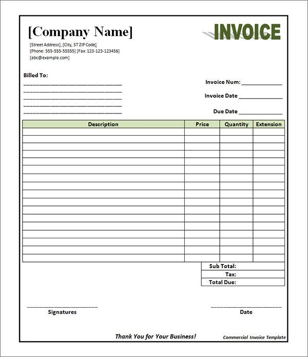 Free Invoice Template Pdf 19 Mercial Invoice Templates Download Free Documents