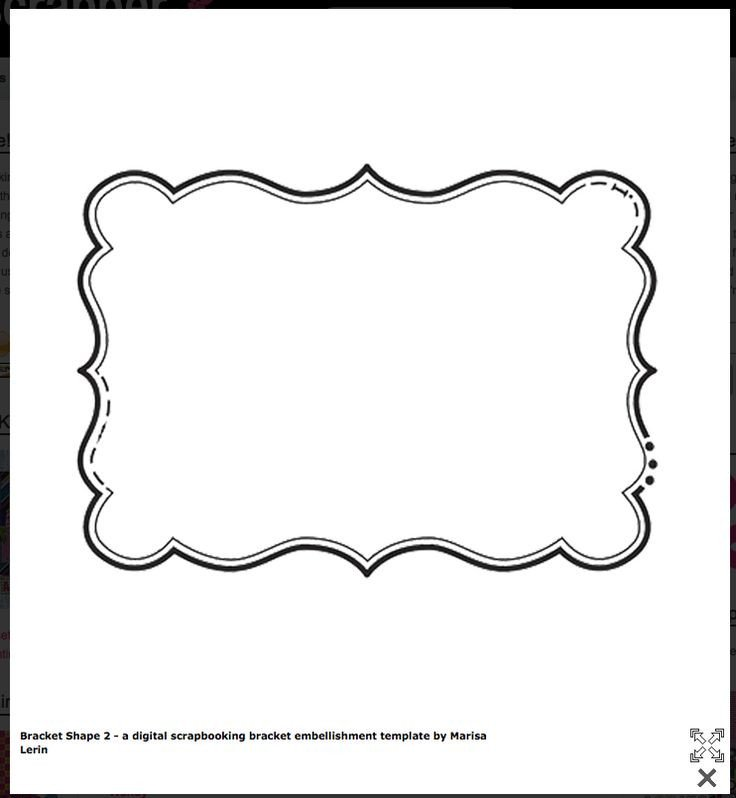 Free Label Design Templates Bracket Shape Free Templates Cards & Envelopes