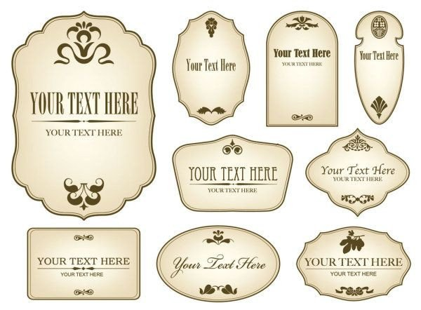 Free Label Design Templates Free Decorative Label Templates