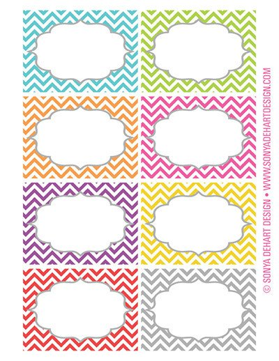 Free Label Design Templates Free Printable Chevron Labels From sonya Dehart Design