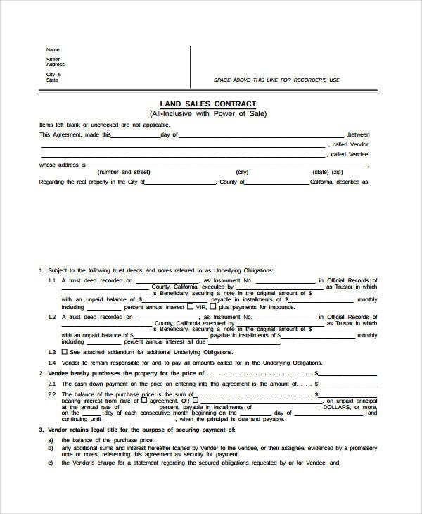 Free Land Contract forms Land Contract Template Learn All About Land Contract
