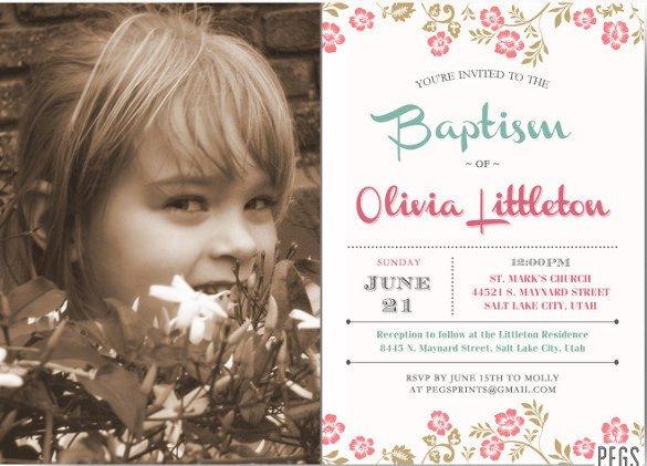 Free Lds Baptism Invitation Template 30 Baptism Invitation Templates – Free Sample Example