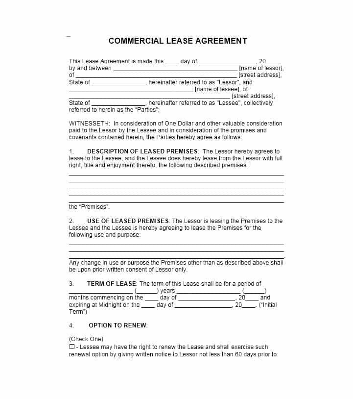 Free Lease Agreement Template Download 26 Free Mercial Lease Agreement Templates Template Lab