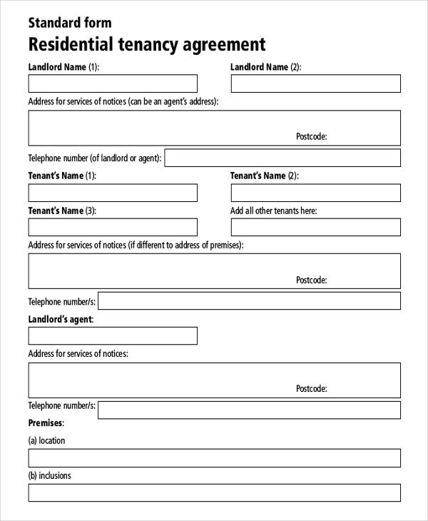 Free Lease Agreement Template Download Residential Rental Agreement – 15 Free Word Pdf