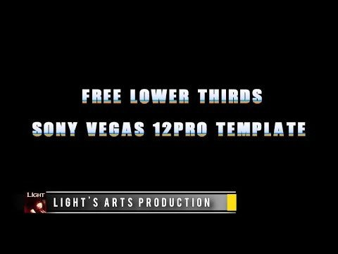 Free Lower Thirds Template Free sony Vegas 12pro Lower Thirds Template