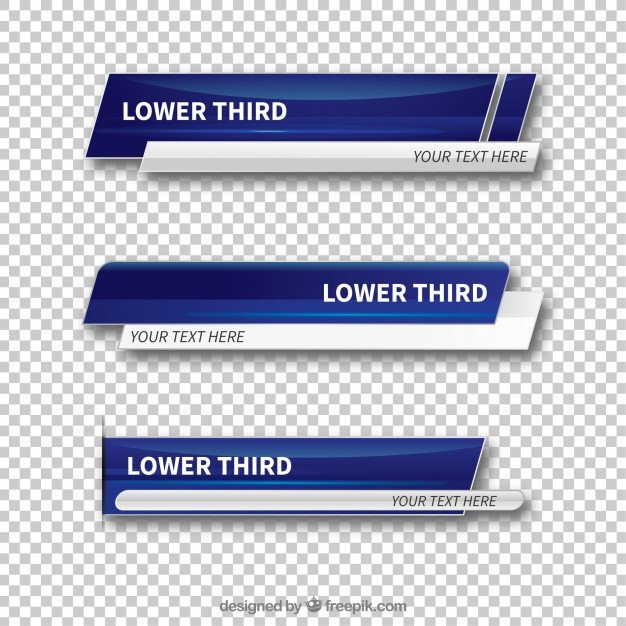 Free Lower Thirds Template Lower Third Vectors S and Psd Files
