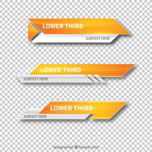 Free Lower Thirds Template Modern Lower Third Templates Vector