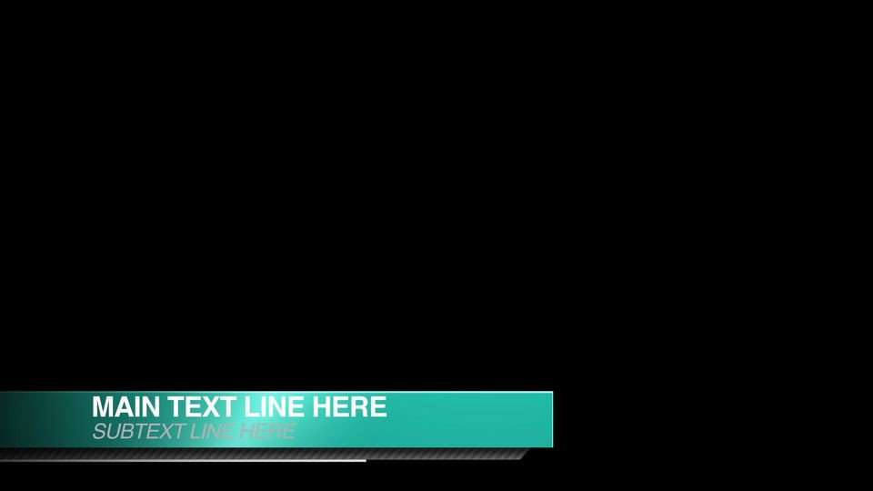 "Free Lower Thirds Template ""smooth Shine"" Free Lower Thirds after Effects Template"
