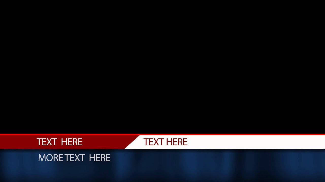 Free Lower Thirds Templates Free after Effects Lower Third Template Cable News