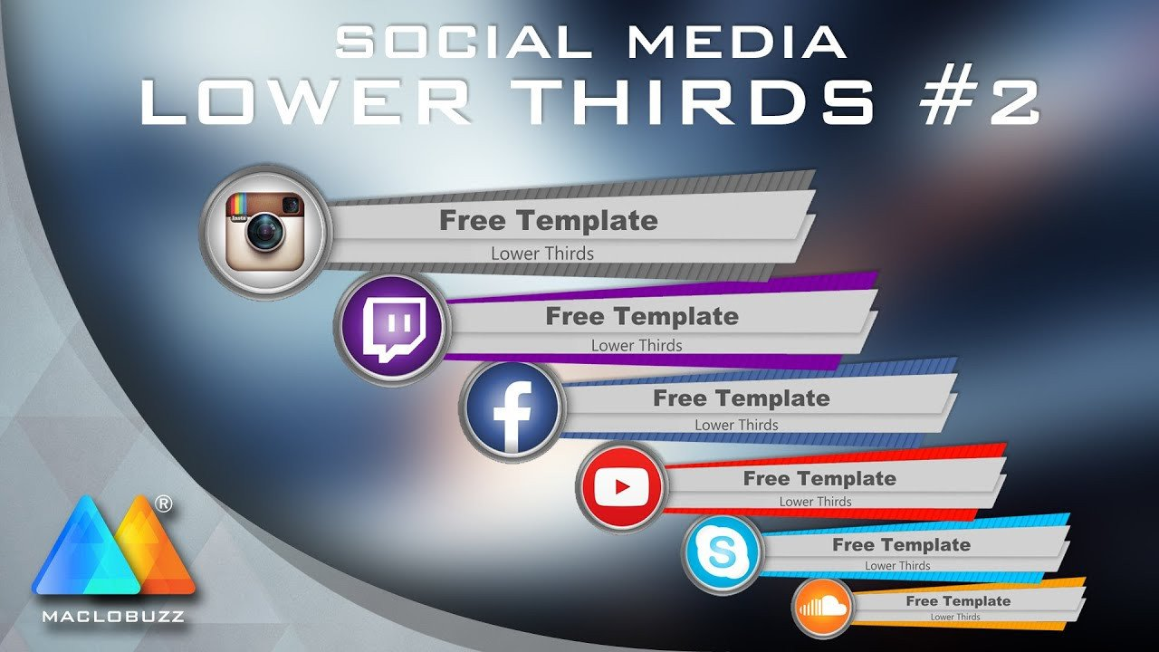 Free Lower Thirds Templates Lower Thirds social Media 2 Free Template sony Vegas