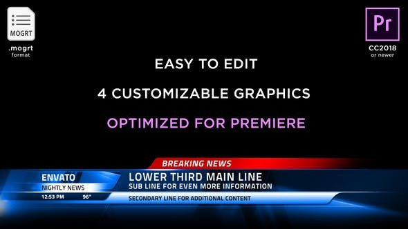 Free Lower Thirds Templates Premiere Broadcast News Lower Thirds