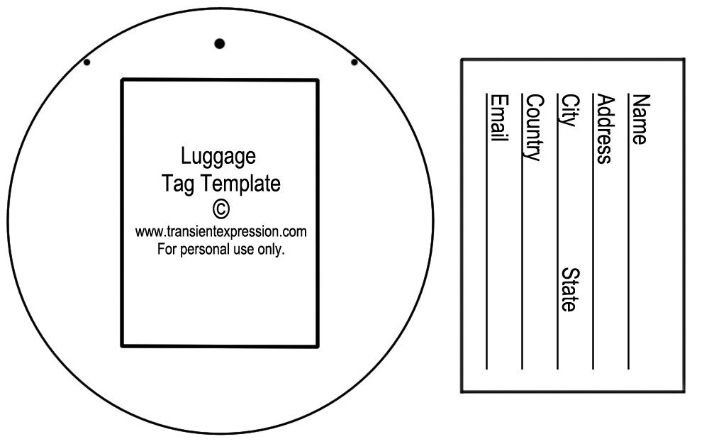 Free Luggage Tag Template Luggage Tag Template
