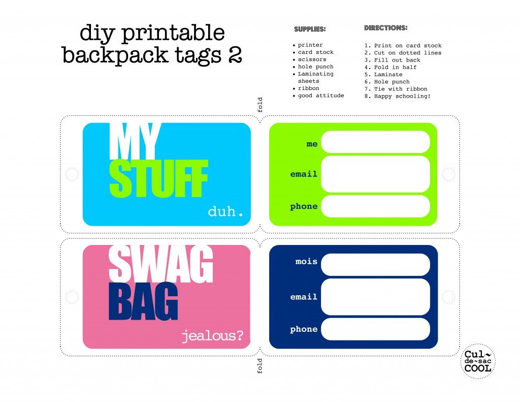 Free Luggage Tag Template Luggage Tag Template