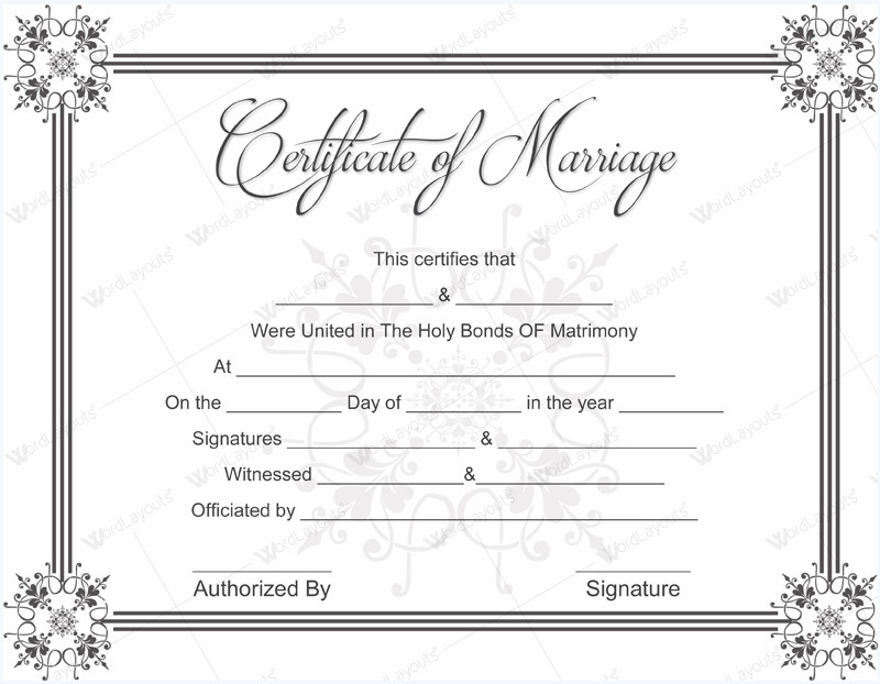 Free Marriage Certificate Template 10 Beautiful Marriage Certificate Templates to Try This Season