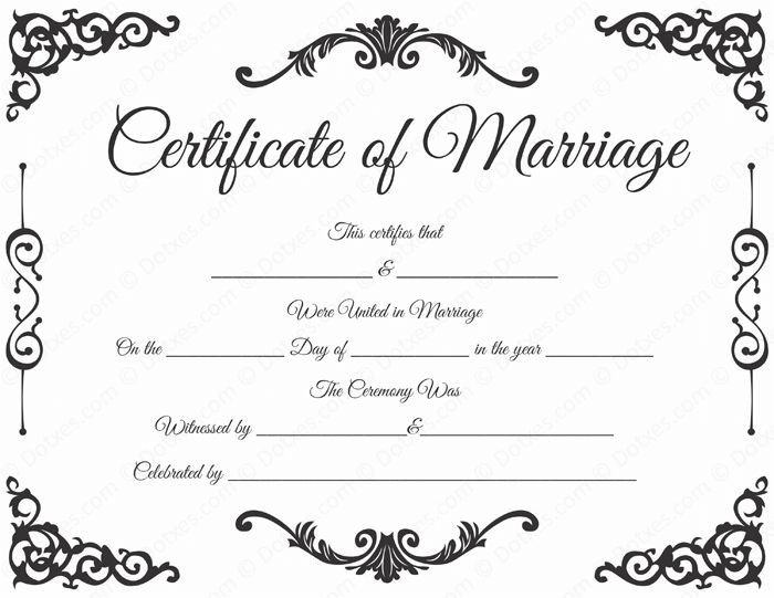 Free Marriage Certificate Template 20 Best Printable Marriage Certificates Images On