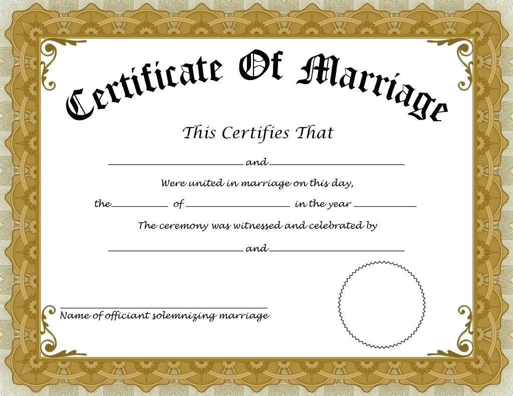 Free Marriage Certificate Template How to Apply for Marriage Certificate In India – Details