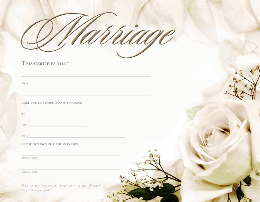 Free Marriage Certificate Template Marriage Certificate Template formats Examples In Word