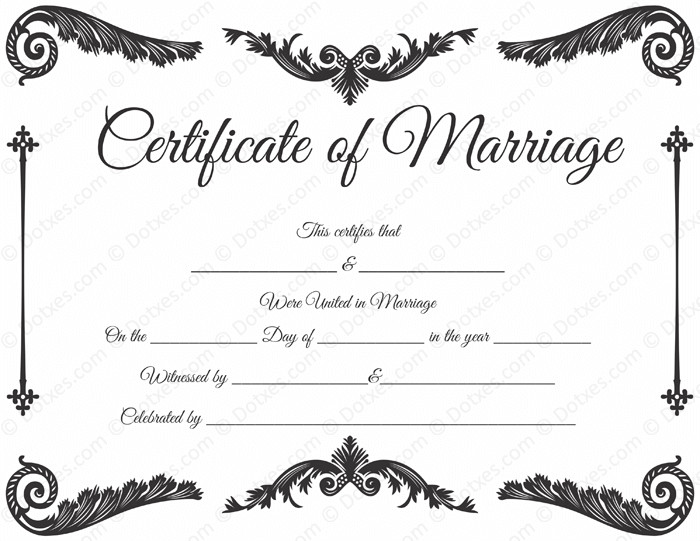 Free Marriage Certificate Template Royal Corner Marriage Certificate format
