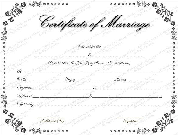 Free Marriage Certificate Template Wedding Certificate Template 22 Free Psd Ai Vector