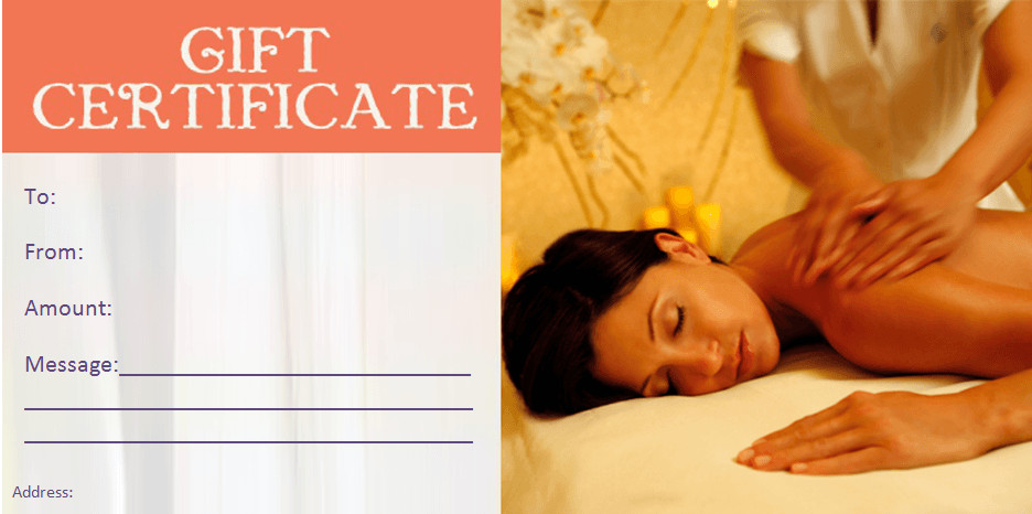 Free Massage Gift Certificate Template Beauty T Certificate Templates by