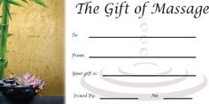 Free Massage Gift Certificate Template Gift Certificates Gift Certificate Template and
