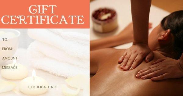 Free Massage Gift Certificate Template Massage Gift Certificate Template