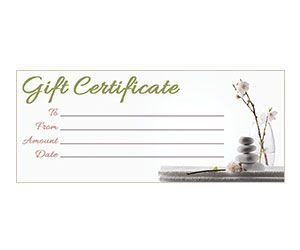 Free Massage Gift Certificate Template orchid Zen Gift Certificate Get This Free Printable