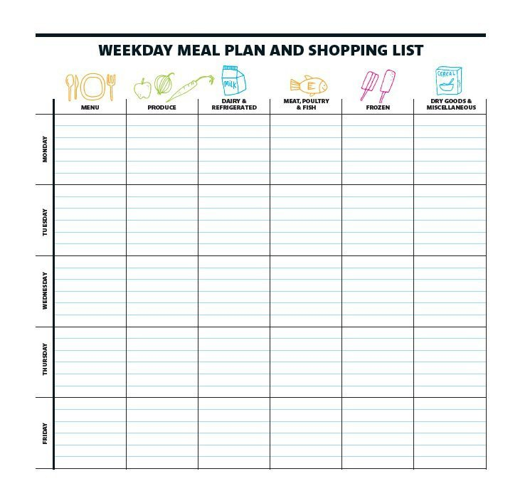 Free Meal Planner Template 40 Weekly Meal Planning Templates Template Lab