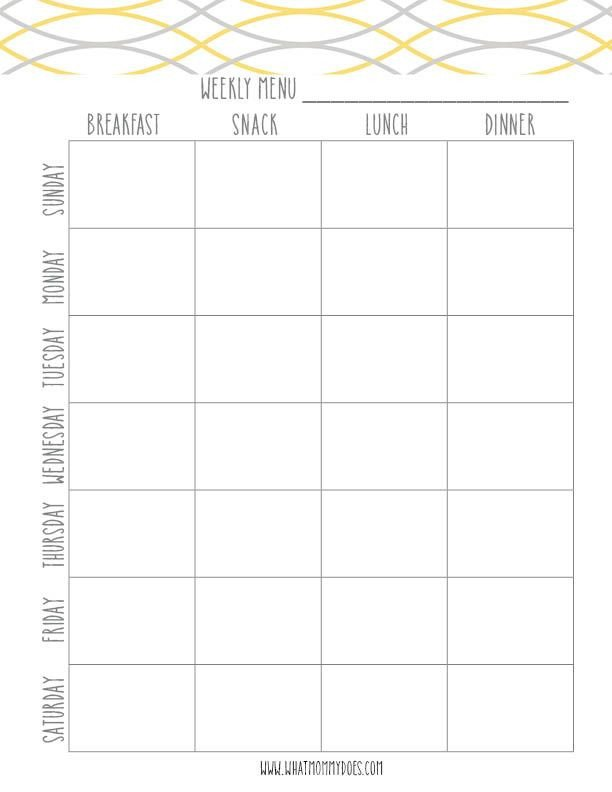 Free Meal Planner Template Free Printable Weekly Meal Planning Templates and A Week