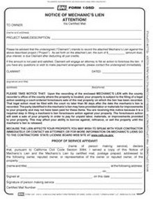 Free Mechanics Lien form Texas Bni forms