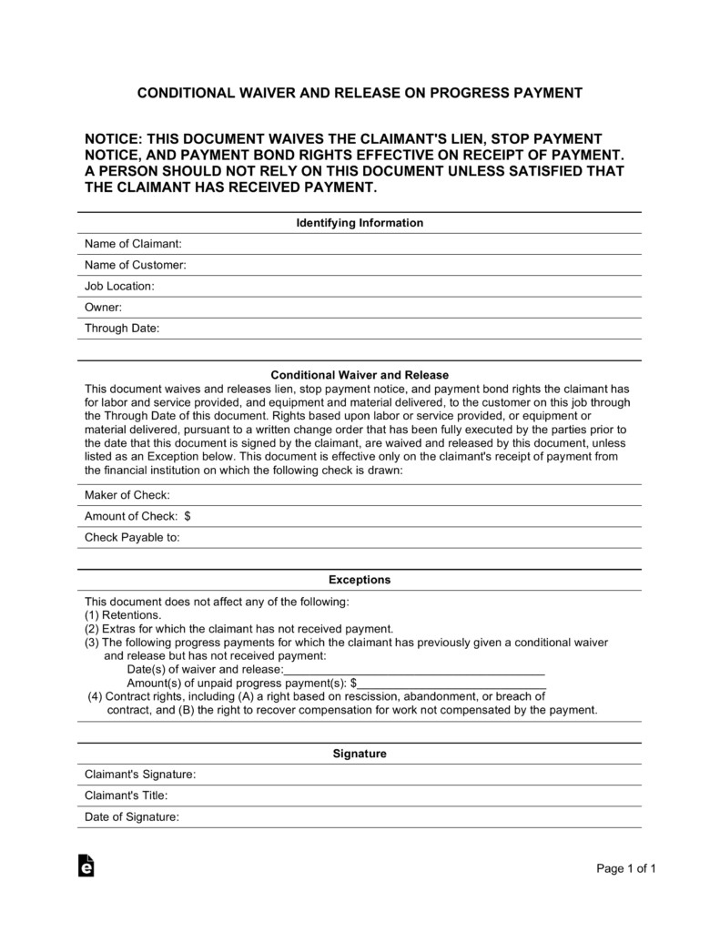 Free Mechanics Lien form Texas Mechanic Lien Release form