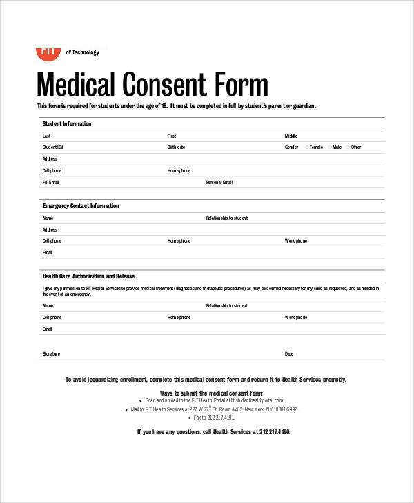 Free Medical Release form Blank Medical forms 35 Free Documents In Word Pdf