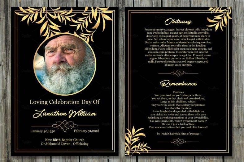 Free Memorial Card Template 17 Funeral Memorial Card Designs & Templates Psd Ai