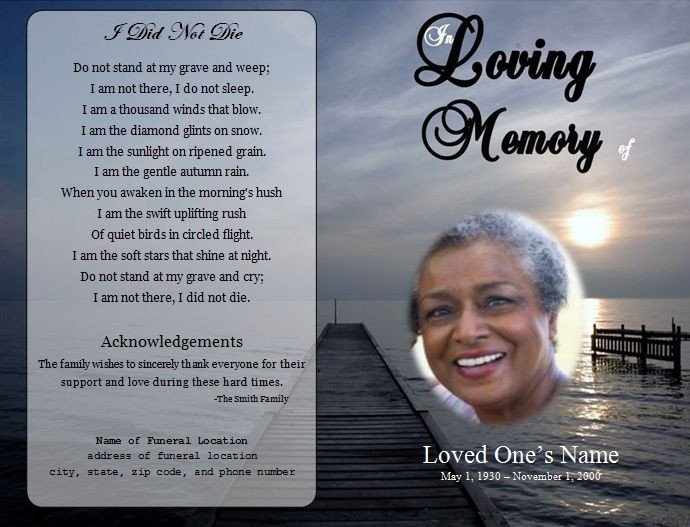 Free Memorial Card Template 73 Best Images About Printable Funeral Program Templates
