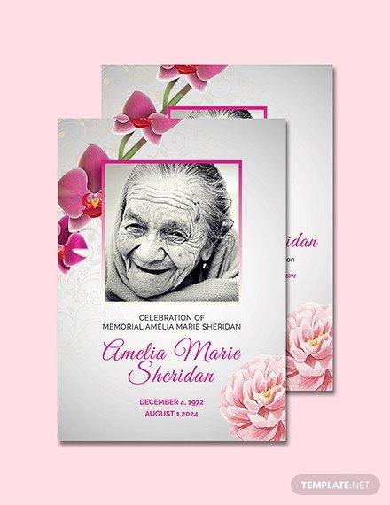 Free Memorial Card Template Free Funeral Memorial Card Template Download 232 Cards