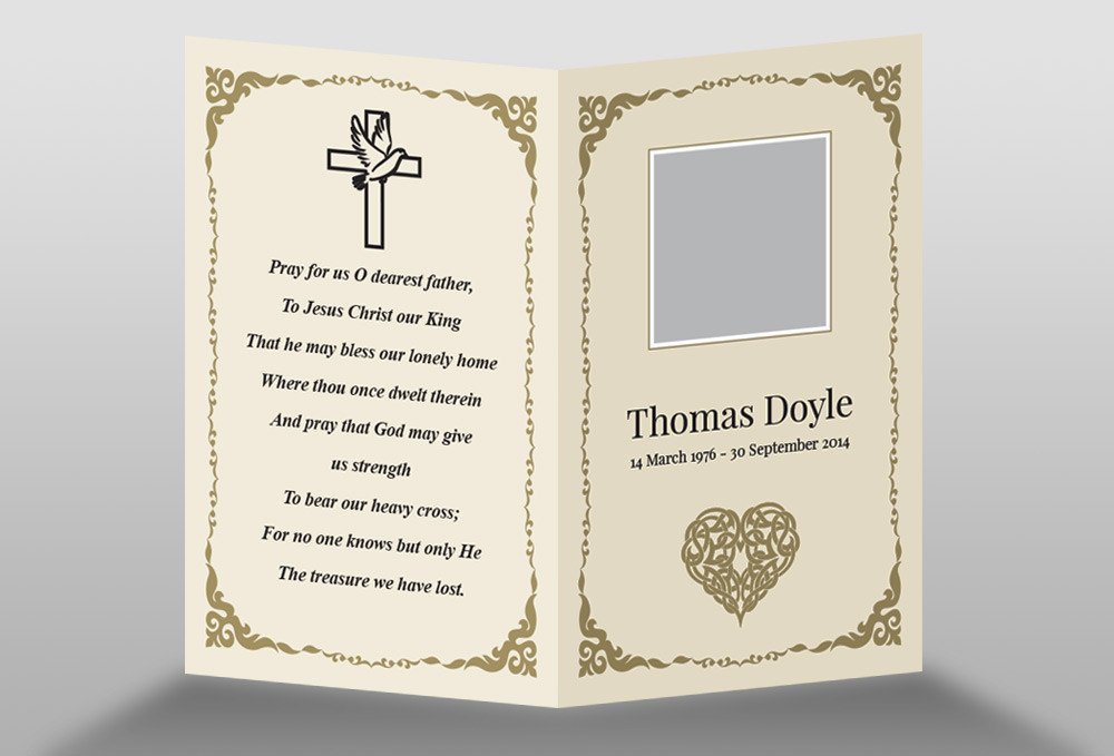 Free Memorial Card Template Free Memorial Card Template In Indesign format Download