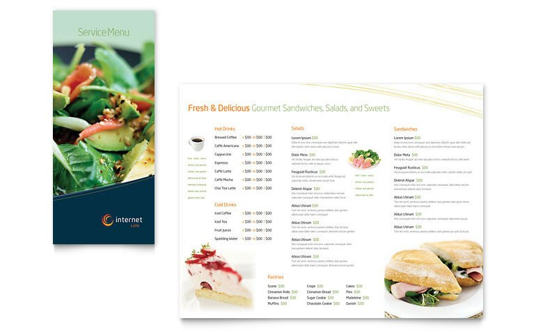 Free Menu Template for Word Free Restaurant Menu Template Download Word & Publisher