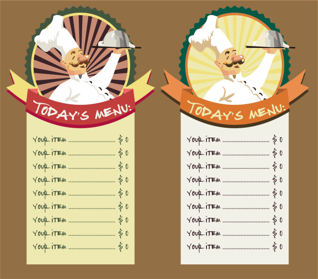 Free Menu Templates for Word Restaurant Menu Template 8 Free Restaurant Menus