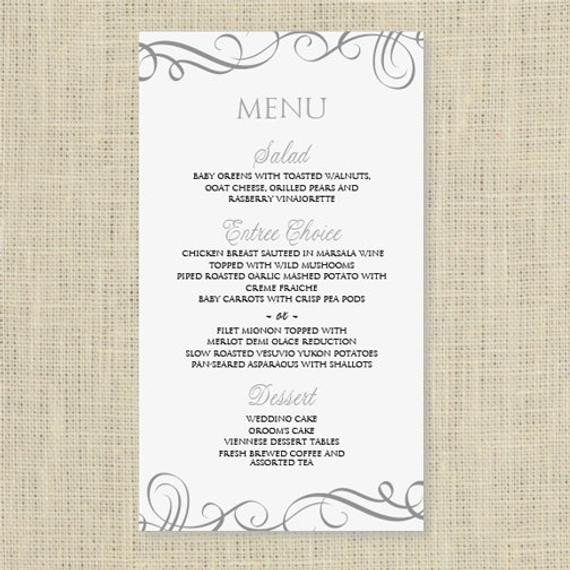 Free Menu Templates for Word Wedding Menu Card Template Download Instantly by