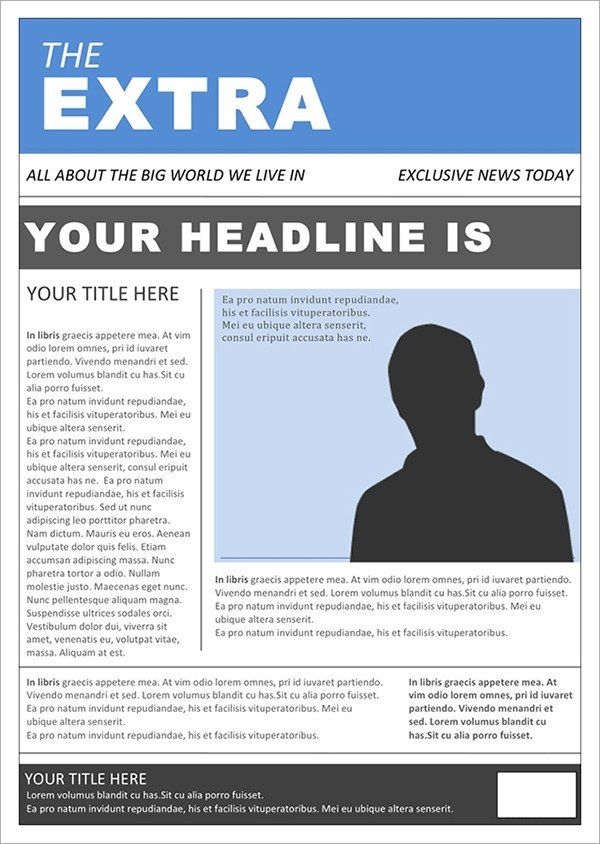 Free Microsoft Word Templates 53 Amazing Newspaper Templates Pdf Ppt Word Psd