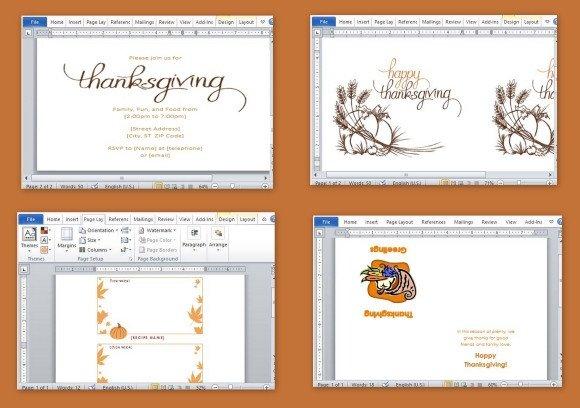 Free Microsoft Word Templates Best Thanksgiving Templates for Microsoft Word