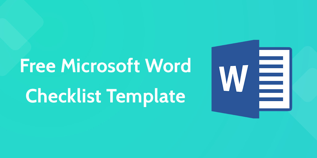 Free Microsoft Word Templates Download Your Free Microsoft Word Checklist Template