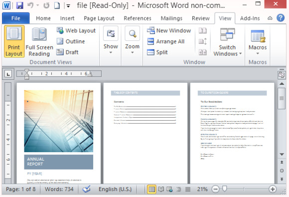 Free Microsoft Word Templates Free Annual Report Template for Word with Cover