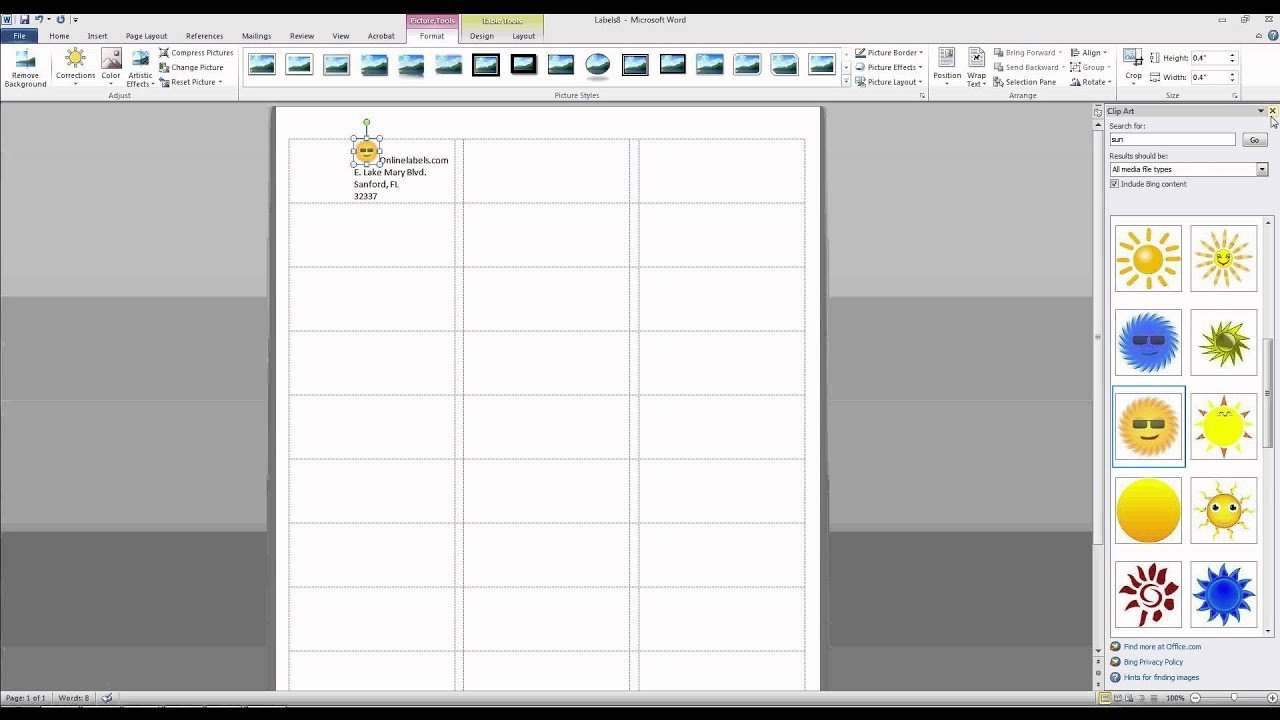 Free Microsoft Word Templates How to Add and Text to Label Templates In Microsoft