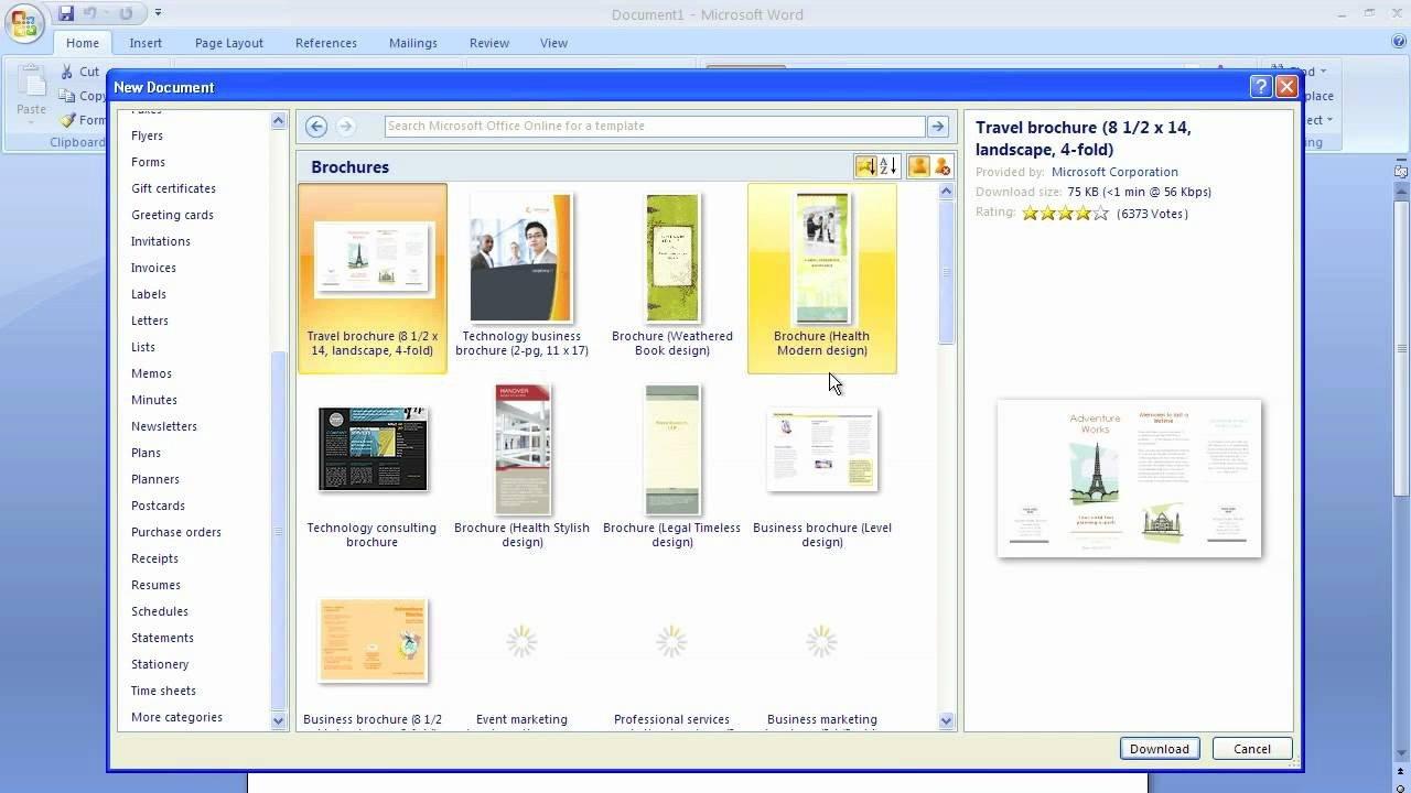 Free Microsoft Word Templates Microsoft Word Brochure Template