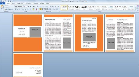 Free Microsoft Word Templates Modern Proposal Template for Microsoft Word
