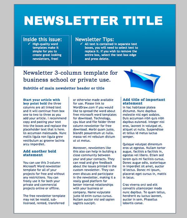 Free Microsoft Word Templates Word Newsletter Template – 31 Free Printable Microsoft