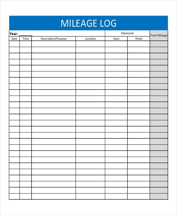 Free Mileage Log Template 13 Log Templates Free Sample Example format