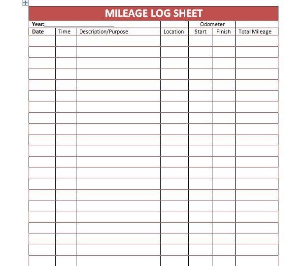 Free Mileage Log Template 30 Printable Mileage Log Templates Free Template Lab