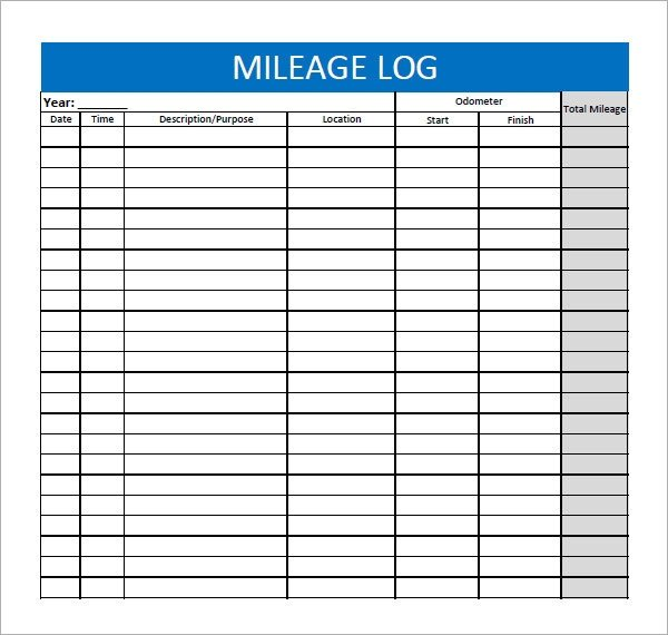 Free Mileage Log Template Mileage Log Template 13 Download Free Documents In Pdf Doc